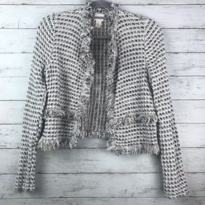 Chico's Open Front Cotton Jacket Blazer Size 0
